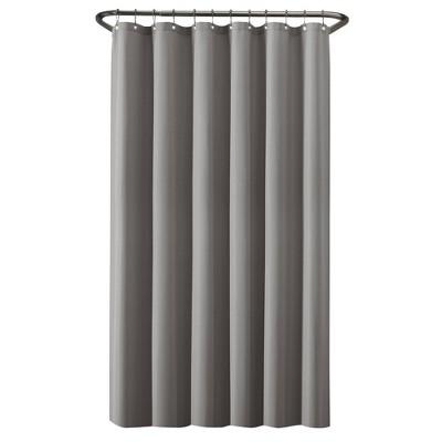100% Waterproof Fabric Shower Curtain Liner Gray - Zenna Home