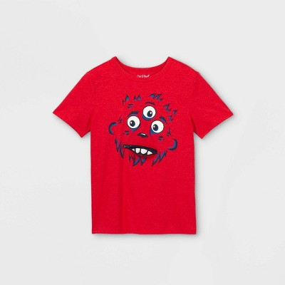 Boys' Monster Interactive Graphic Short Sleeve T- Shirt - Cat & Jack™ Red