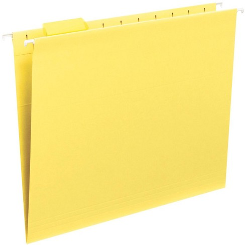 Smead Vinyl Tab/Mediumweight Stock 1/5 Cut Hanging Folder, Letter, 2 Inch Expansion, Yellow, pk of 25 - image 1 of 1