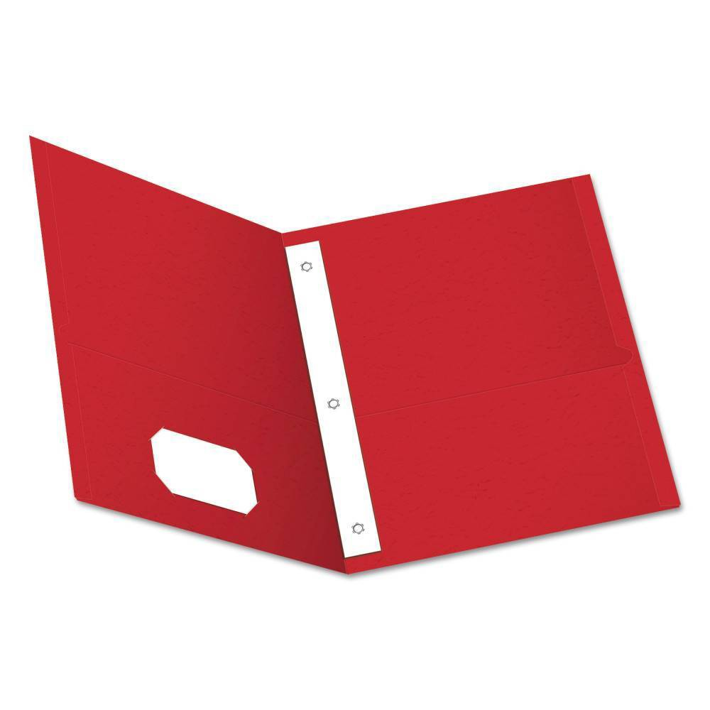 Image of Paper Folder with Prongs 2 Pocket Light Red - Oxford