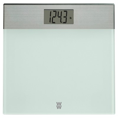 Decorative Glass/Stainless Steel Scale White - Weight Watchers