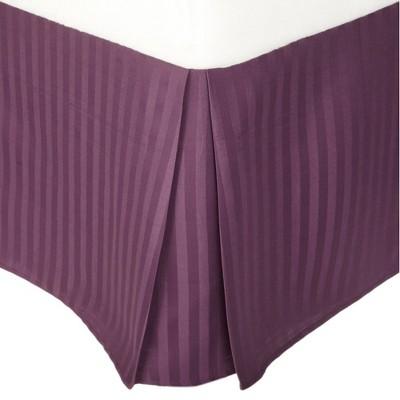 "Lightweight Stripe Microfiber Wrinkle-Resistant Bed Skirt with 15"" Drop - Blue Nile Mills"