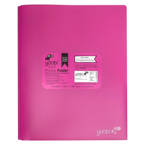 Yoobi™ Pronged 2 Pocket Plastic Folder - image 1 of 2