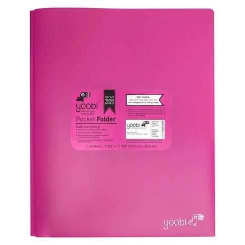 2 Pocket Plastic Folder with Prong Fasteners - Yoobi™ - image 1 of 4