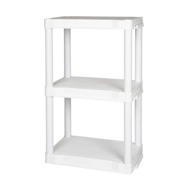 Plano Indoor 3 Shelf Utility Storage White