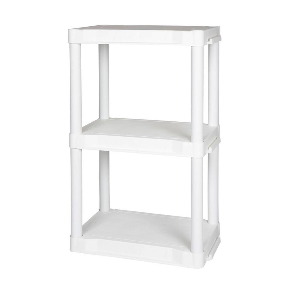 Image of Plano Indoor 3 Shelf Utility Storage White
