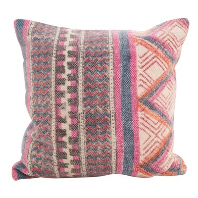 Saro Lifestyle 18 X18 Boho Medley Down Filled Throw Pillow Pink Target