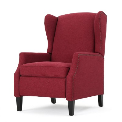 Wescott Traditional Fabric Recliner Deep Red - Christopher Knight Home