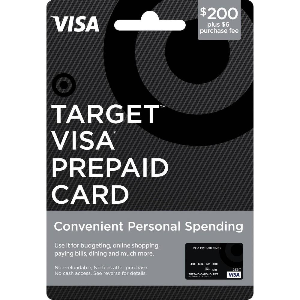 Visa Prepaid Card - $200 + $6 Fee