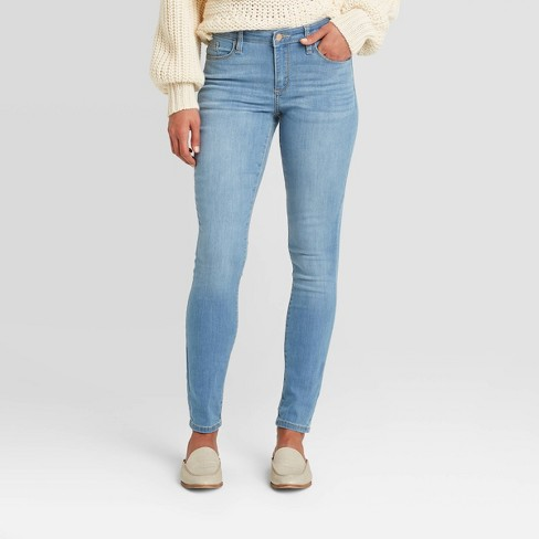 Women's Mid-Rise Skinny Jeans - Universal Thread™ - image 1 of 4