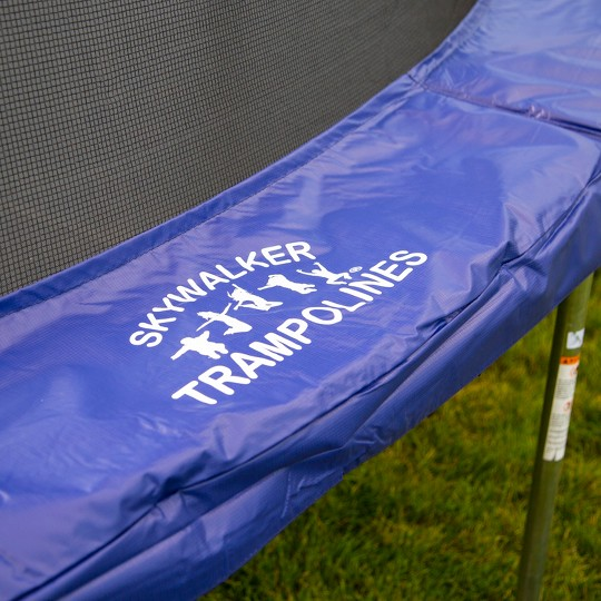 Skywalker Trampolines 17' Oval Trampoline with Enclosure - Blue, Adult Unisex image number null