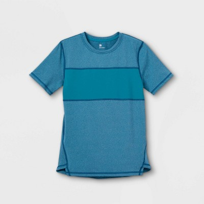 Boys' Short Sleeve Chest Striped T-Shirt - All in Motion™