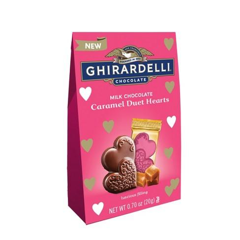 Ghirardelli Valentines Day Milk Chocolate Caramel Duet Hearts Bag