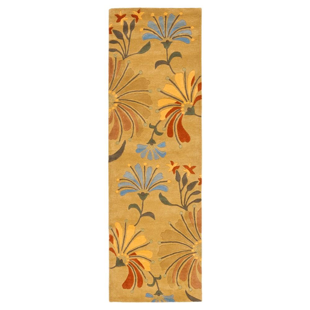 Golden Olive Botanical Tufted Runner - (2'6X8' Runner) - Safavieh