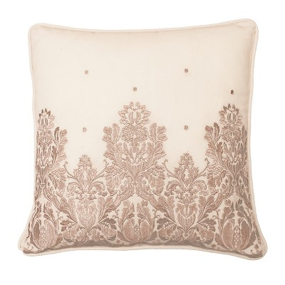 Montreal Embroidered Throw Pillow Blush - Beautyrest