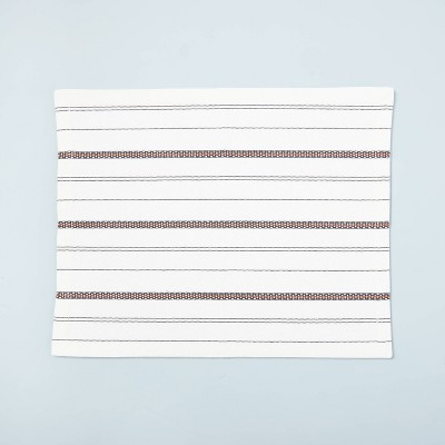 Seasonal Stripes Woven Placemat Gray/Pumpkin Brown - Hearth & Hand™ with Magnolia