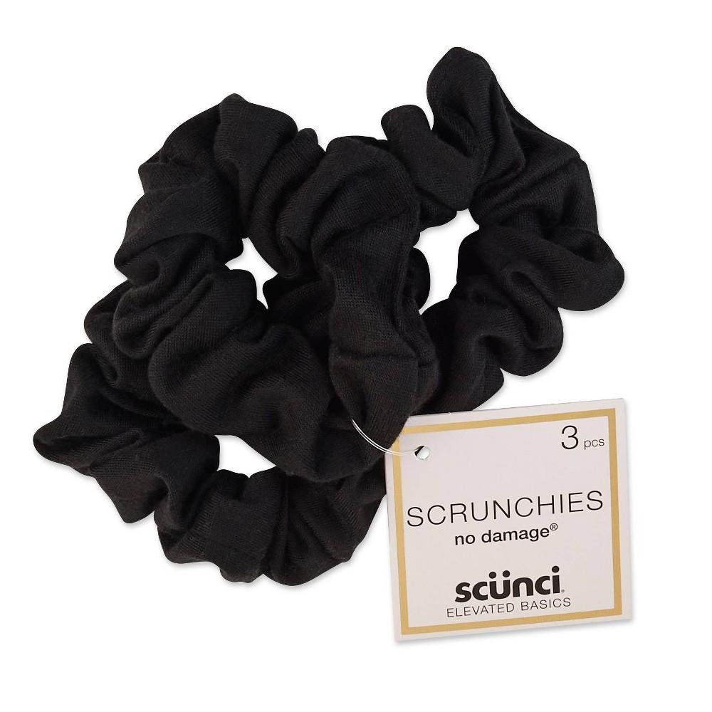 Cheap scunci Scrunchies - Black - 3ct