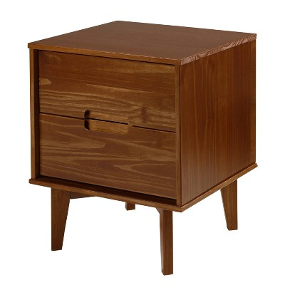 Mid Century Modern Wood Nightstand Walnut - Saracina Home
