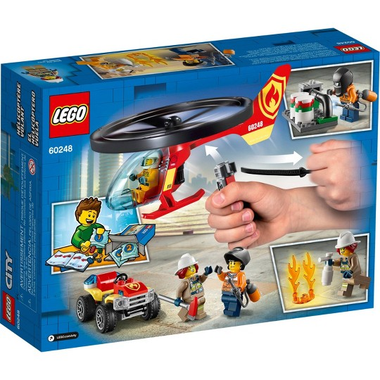 LEGO City Fire Helicopter Response 60248 Firefighter Building Set image number null
