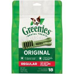 Greenies Regular Original Dental Dog Treats - 18ct/18oz