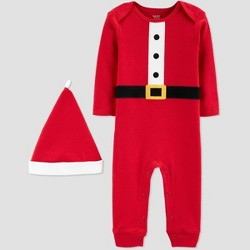 Baby Boys' Santa Christmas Coverall Jumpsuit - Just One You® made by carter's Red