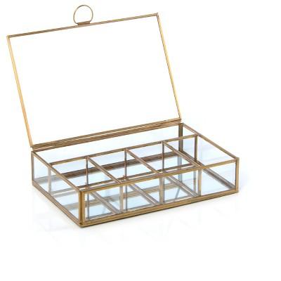 Wallace 5 Compartment Display Box  - Gold - Shiraleah
