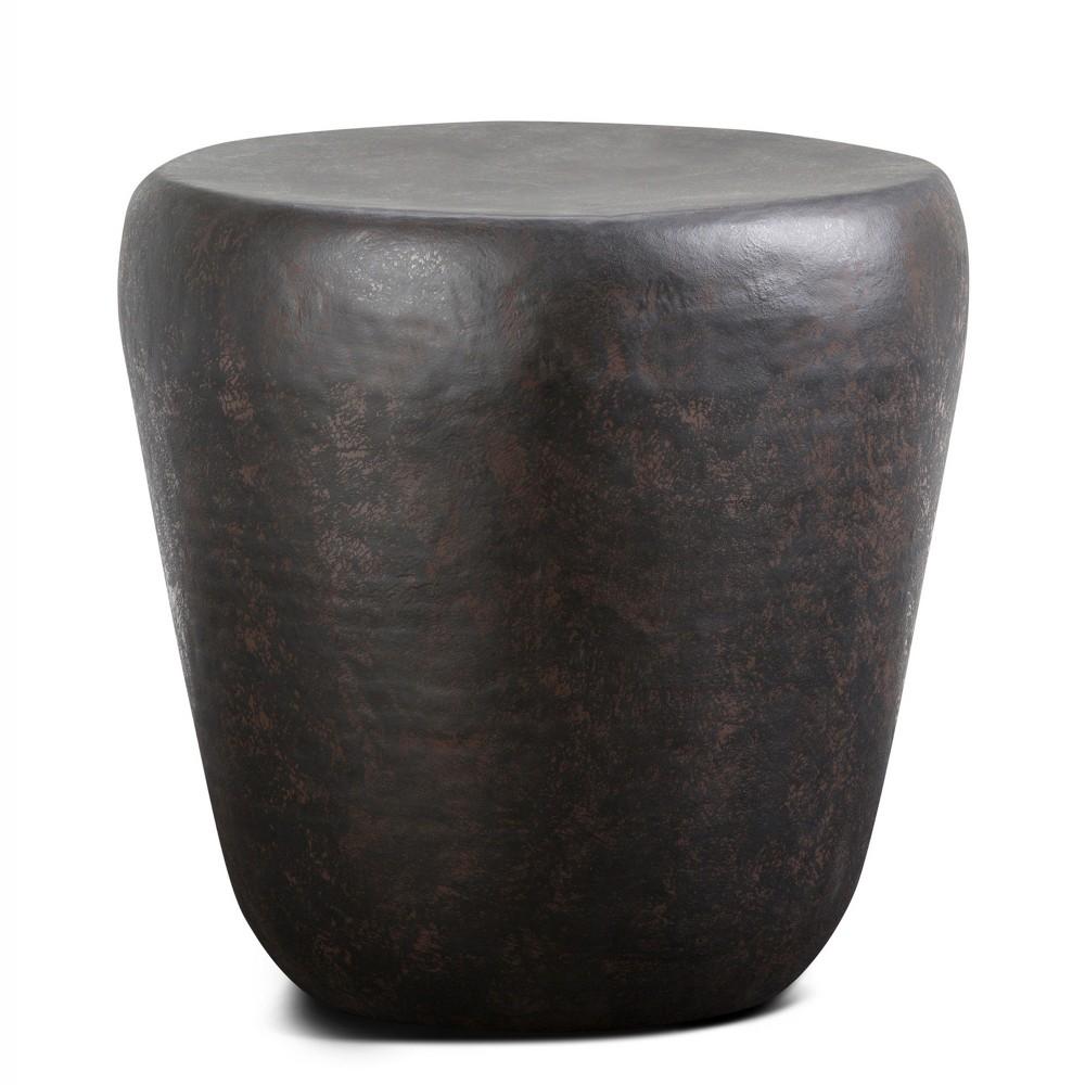 Beaton Metal Side Table Rustic Bronze - Wyndenhall, Golden Bronze