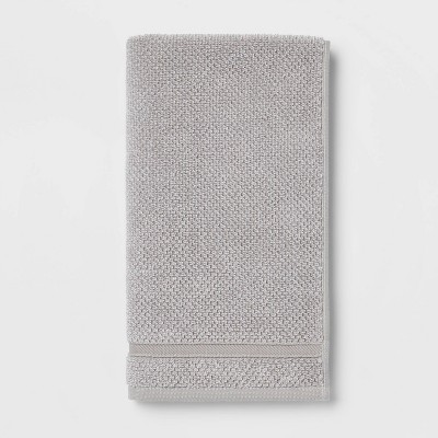 Performance Texture Hand Towel Light Gray - Threshold™