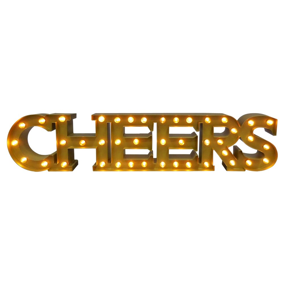 Cheers Marquee Led Light - Threshold, Brass