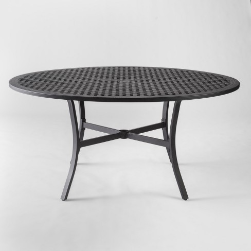 Chester Aluminum Round Patio Dining Table - Threshold™ - image 1 of 4