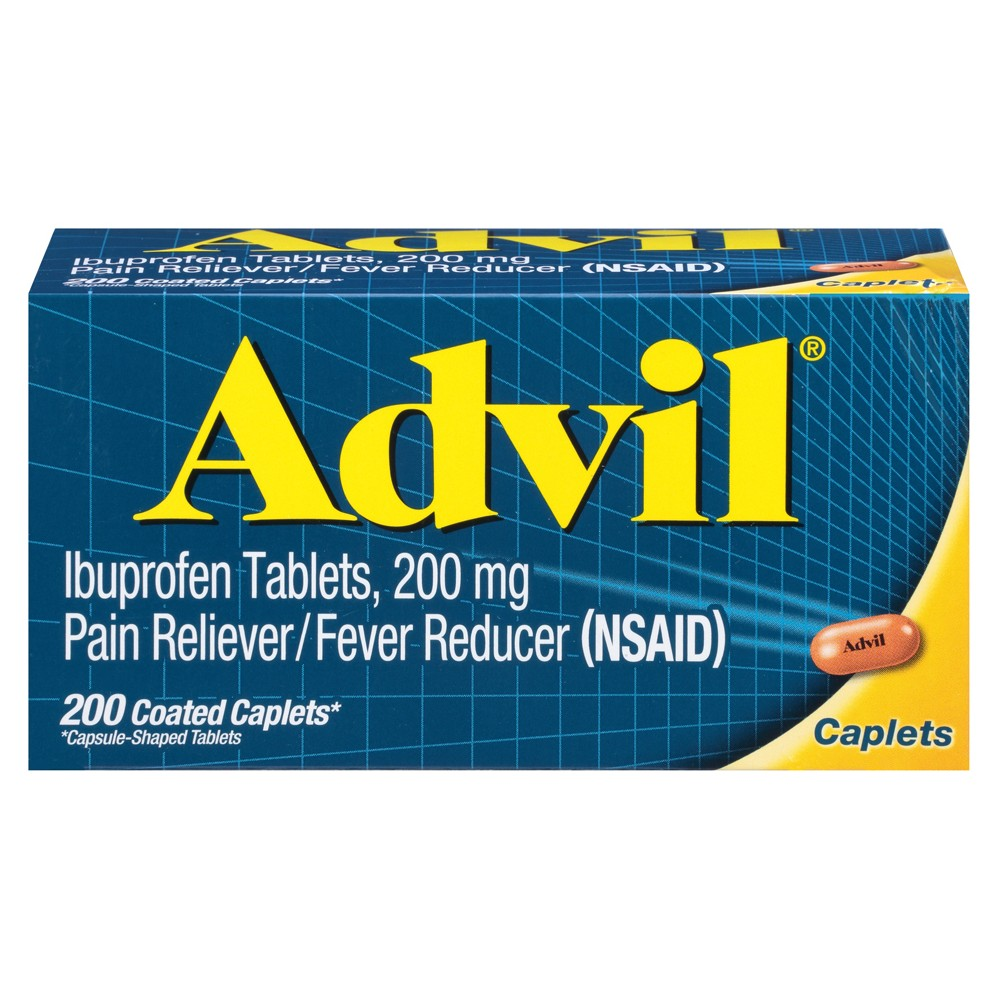 Advil Pain Reliever/Fever Reducer Caplets - Ibuprofen (Nsaid) - 200ct