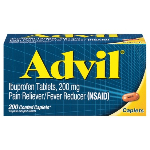 Advil Pain Reliever/Fever Reducer Caplets - Ibuprofen (NSAID) - 200ct - image 1 of 5