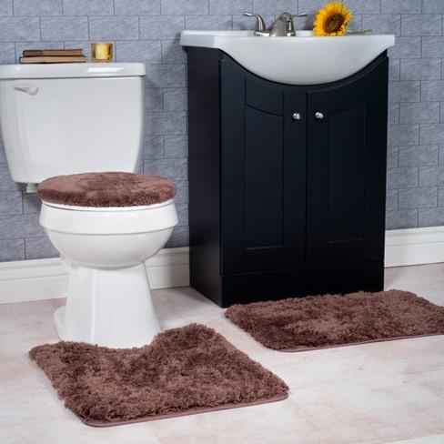 Solid Super Plush Non Slip Bath Mat Rug Set 3pc Yorkshire Home Target