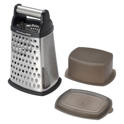 KitchenAid Box Grater with Storage Stainless Steel Blade Black