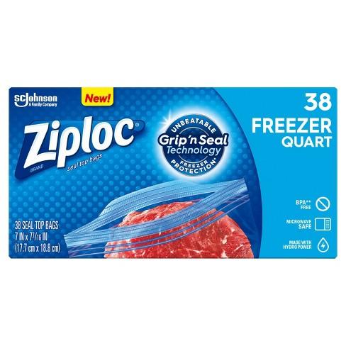 Ziploc Freezer Quart Bags Target