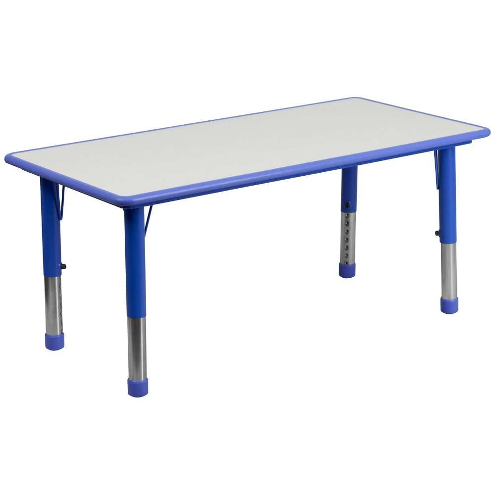 Flash Furniture Rectangular Activity Table Blue/Gray - Belnick