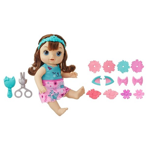 Baby Alive Style n' Snip Baby - Brunette - image 1 of 4