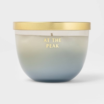 11oz Lidded Colored Glass At The Peak Candle - Opalhouse™