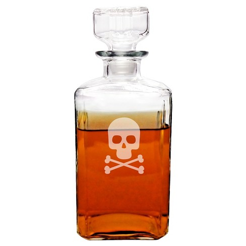 Halloween Skull and Cross Bones Spirits Decanter - image 1 of 3
