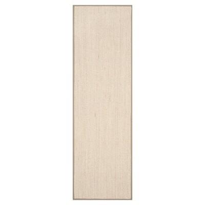 Natural Fiber Rug - Marble/Khaki - (2'6 x14')- Safavieh®
