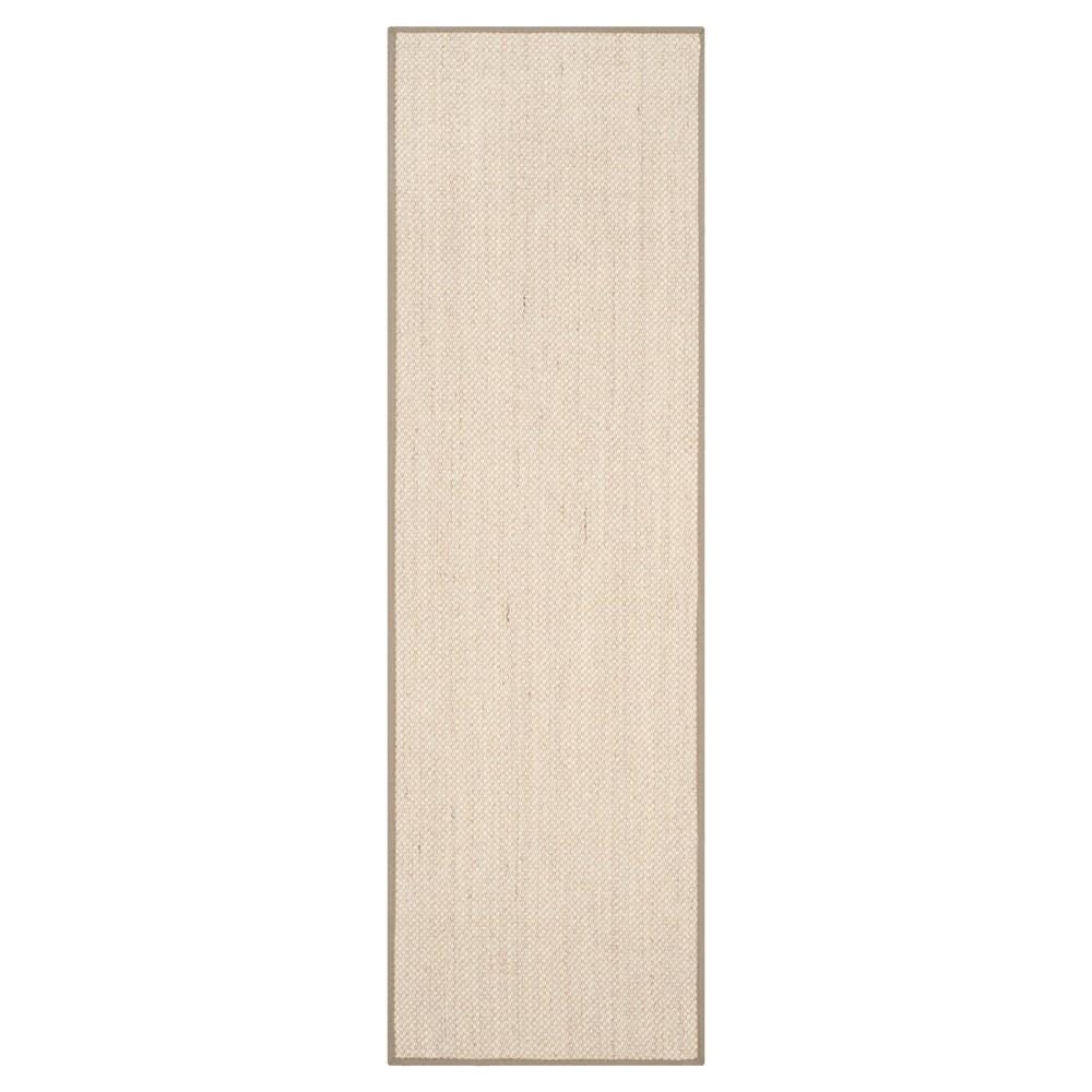 Natural Fiber Rug - Marble/Khaki (Marble/Green) - (2'6x12') - Safavieh