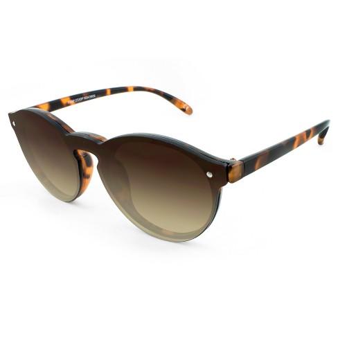c73908fda3093 Women s Rimless Round Sunglasses with Keyhole Nosebridge - A New Day™ Brown