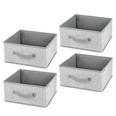mDesign Fabric Modular Closet Organizer Box for Cube Units, 4 Pack