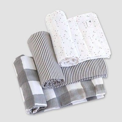 Burt's Bees Baby® Woven Organic Cotton Muslin Blankets - 3pk Starry Eye