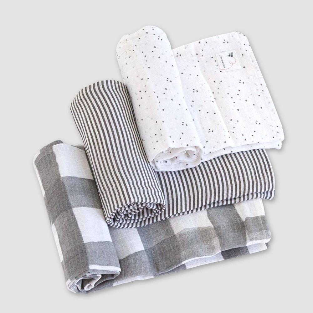 Burt 39 S Bees Baby 174 Woven Organic Cotton Muslin Blankets 3pk Starry Eye