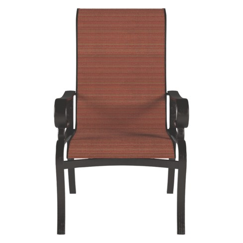 Admirable Apple Town Sling Chair With 2 Cushion Burnt Orange Outdoor By Ashley Beutiful Home Inspiration Xortanetmahrainfo
