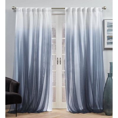Set of 2 Crescendo Lined Blackout Hidden Tab Curtain Panel - Exclusive Home