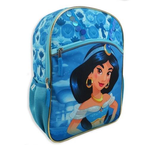 "Disney Aladdin Jasmine 16"" Kids' Backpack - Teal - image 1 of 6"