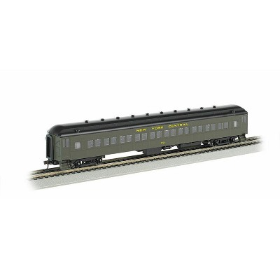 Bachmann Trains 13804 HO Scale New York Central # 9- 72 Foot Heavyweight Observation, Grey, Lighted Interior, Metal Wheels, Die-cast Trucks