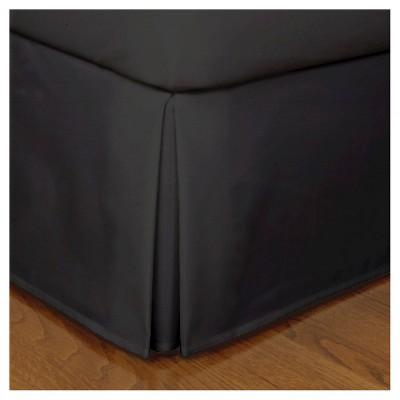 Black Tailored Microfiber 14  Bed Skirt (King)